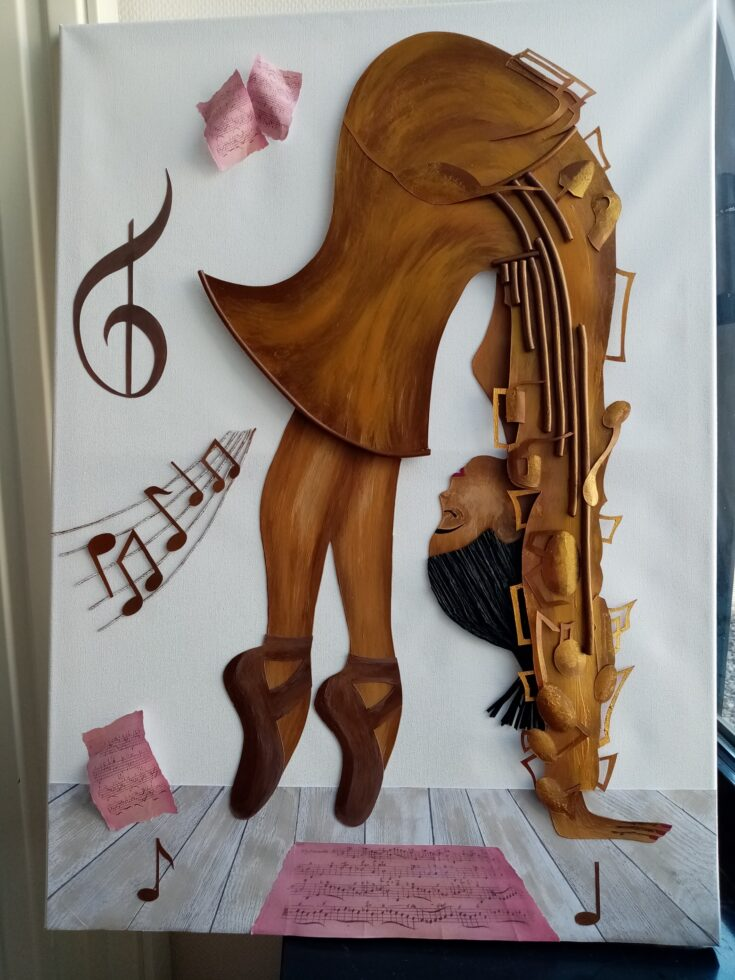 Femme trombone 1